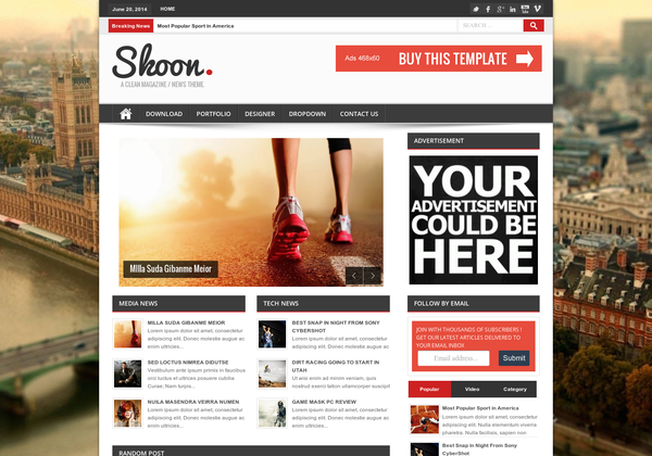 shoon blogger template image