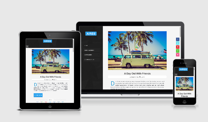 aires responsive blogger template