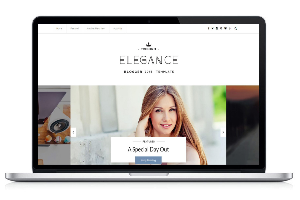 elegance blogger template in mac